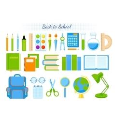 School supplies set vector image