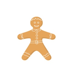 Gingerbread man isolated on white vector