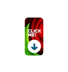 Abstract rectangle button template vector image