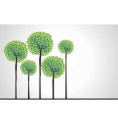 Beautiful green trees vector image