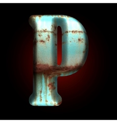 Old metal letter vector
