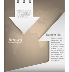 abstract arrows vector image