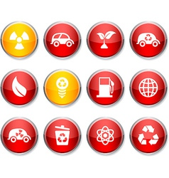 Ecology round icons vector