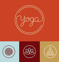 Linear yoga logo vector