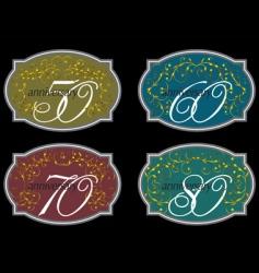 Wine labels vector
