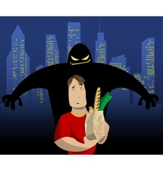 Cartoon about crime to in a city street vector image