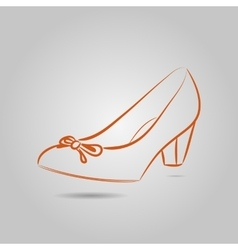 Icon image of elegant high-heeled shoes vector image