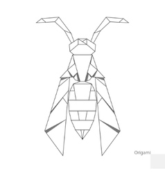Origami paper wasp vector