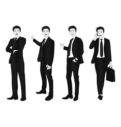 Business man full body gray vector
