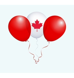 Balloons in white red as canada national flag vector