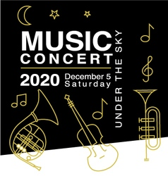 Design elements for music concert advertising vector