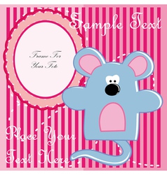Baby postcard with mouse vector