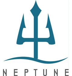 Abstract icon neptune trident vector