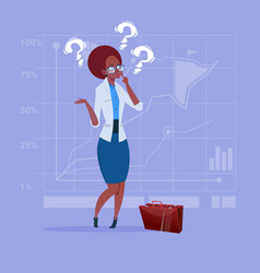 African american business woman with question mark vector