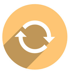 arrow sign refresh icon circle button vector image vector image