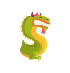 cartoon character monster letter s vector image vector image