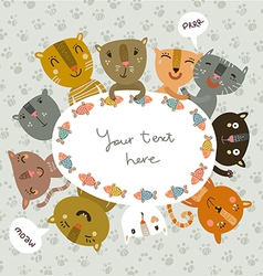catlike frame vector image vector image