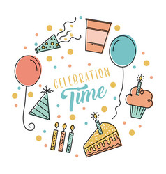 celebration time poster invitation party vector image
