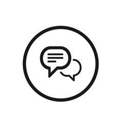 Chat icon on a white background vector