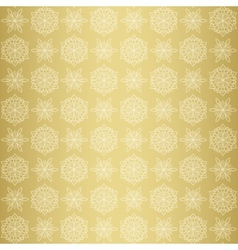 Christmas seamless pattern with snowflake gold vector image vector image