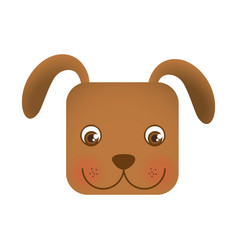 Cute dog animal head expression vector