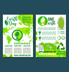 Earth nature ecology infographics brochure vector