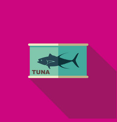 Flat icon of canned tuna vector