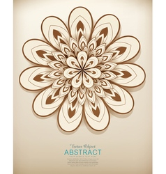 hand-drawn abstract flowers pattern vector image vector image