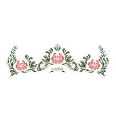 Hand Drawn vintage floral ornament vector image vector image