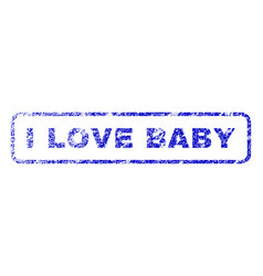 I love baby rubber stamp vector