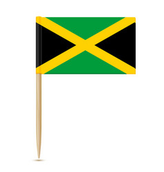 Jamaica flag toothpick 10eps vector