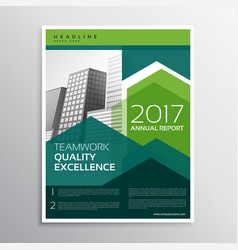 Modern green arrow brochure design for your vector
