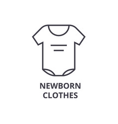 Newborn clothes line icon outline sign linear vector