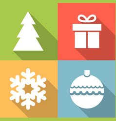 set of christmas icon vector image