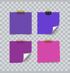 set of ultra violet color sheets of note memo vector image vector image
