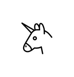 thin line unicorn head icon vector image
