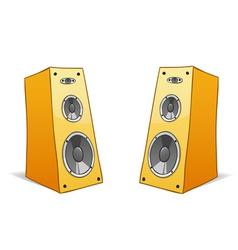 two vector cartoon speakers vector image