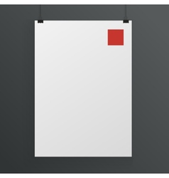 White poster mock up template vector image vector image
