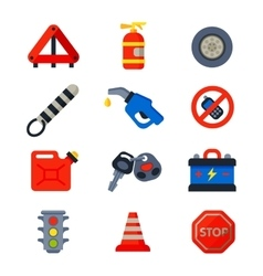 Auto transport motorist icons vector