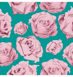 Color rose pattern vector