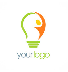 Creative man idea logo vector