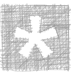Asterisk sign - freehand symbol vector