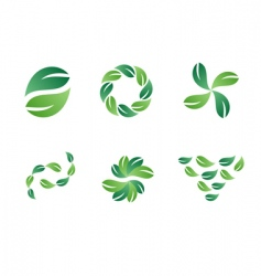 Green leaf logo designs vector