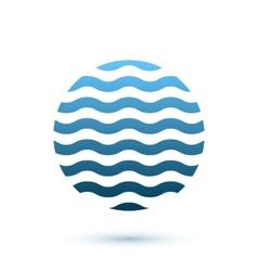 Abstract wavy round conceptual icon sphere vector