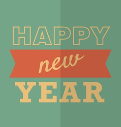 Happy new year poster or card hipster style vector