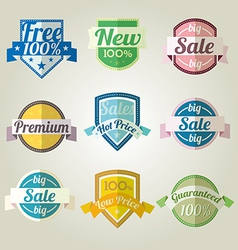 Sales new premium quality labels set vector