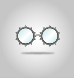 Glasses specs goggles shades weird steampunk vector