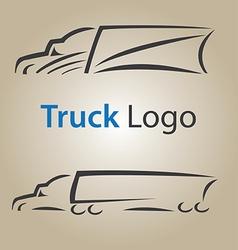 Truck logo 3 vector image