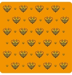 Orange background bee vector