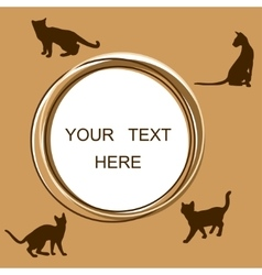 Round frame with cats vector